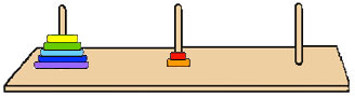 how to solve tower of hanoi 4 disks